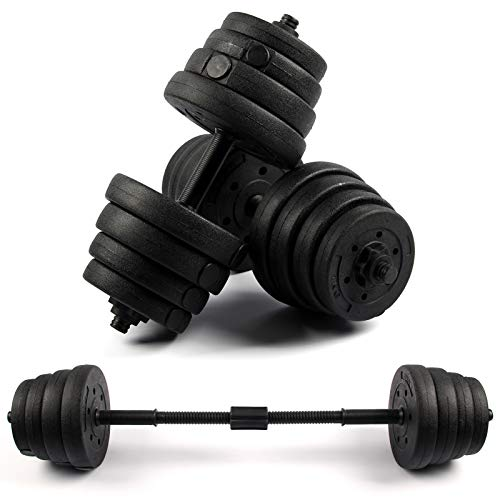 Trintion 30kg Dumbbell Set Adjustable Dumbbells Training Gym Weights Set Bodybuilding Fitness Weight Lifting Training Home Gym Equipment