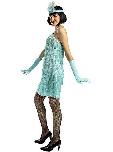 Funidelia   Disfraz de charlestón años 20 Azul para Mujer Talla XS ▶ Años 20, Cabaret, Gángster, Décadas - Color: Azul - Divertidos Disfraces y complementos