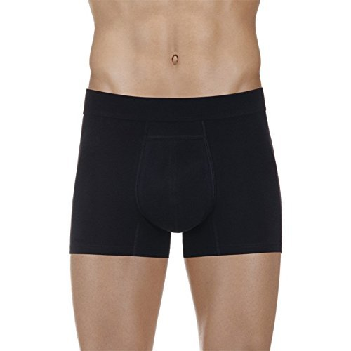 PROTECHDRY - Washable Urinary Incontinence Cotton Boxer Brief Underwear for Men with Front Absorbent Area, Black X-Large