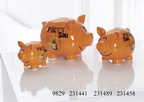 Ritzenhoff & Breker Sparschwein Größe Sparschwein 14 cm Orange Party Sau