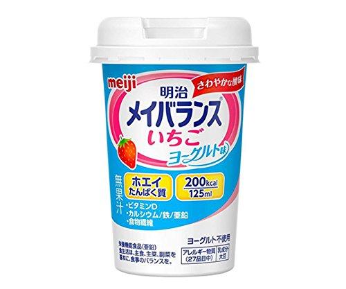 明治7-2581-13メイバランスMiniいちごヨーグルト味12本入【1箱(12本入)】(as1-7-2581-13)