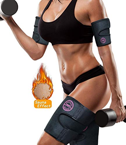 TNT Body Wraps for Arms and Slimmer Thighs - Lose Arm Fat & Reduce Cellulite - 4 Piece Kit, Large, Pink