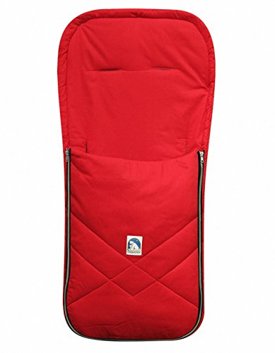 HEITMANN Baby Sommer Fußsack mit Baumwolle rot, waschbar, für Kinderwagen, Buggy, ca. 94x42 cm