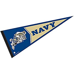 College Flags & Banners Co. Navy Pennant Full Size Felt