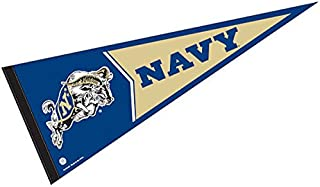 College Flags and Banners Co. Navy Pennant Full Size Felt