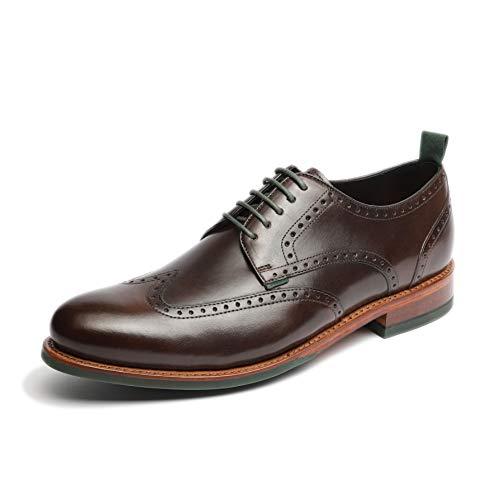 Gordon & Bros. Herren Schnürhalbschuhe Levet 5660, Männer Businessschuh, Full-Brogue Derby schnürung Business-Schuh anzugschuh,TDM,42 EU / 8 UK