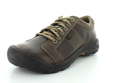KEEN Herren Austin Low Leder Freizeitschuh, Chocolate Brown, 44.5 EU