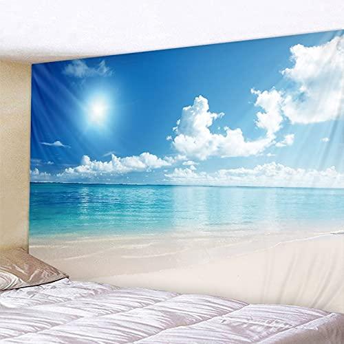 PPOU Blauwe hemel en witte wolken tapijt eenvoudige stijl hemel muur opknoping hippie tapijt bohemien sprei slaapzaal woondecoratie A3 150x200cm