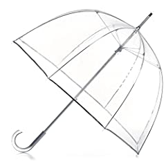 "CLEAR STYLISH BUBBLE UMBRELLA: Waterproof clear canopy for maximum rain coverage and see through visibility WINDPROOF AND RAINPROOF: With 51"" canopy, you'll be protected from the wind and the rain so hair and clothes stay dry LIGHTWEIGHT CONSTRUCTION..."
