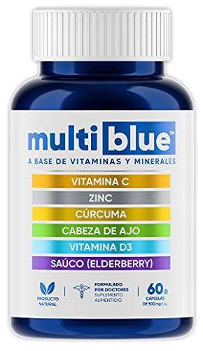 MULTIBLUE IMMUNE ULTRA   Avanzada 6 en 1 Defensa Inmune con Vitamina C, Zinc,...