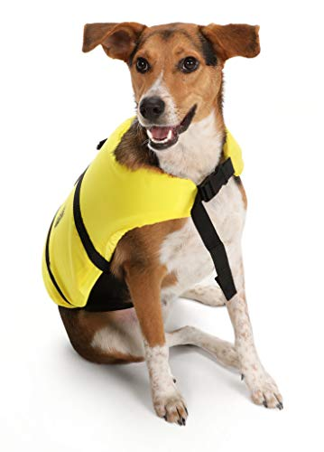 Seachoice 86300 Dog Life Vest - Adjustable Life Jacket for Dogs, with Grab Handle, Yellow, Size XXS, up to 6 Pounds