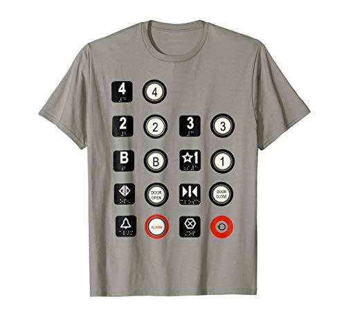 Elevator T-Shirt Elevator Buttons