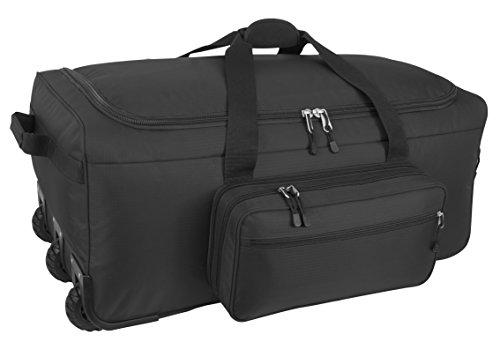 Mercury Tactical Gear Code Alpha Mini Monster Wheeled Deployment Bag, Basic, Black, One Size