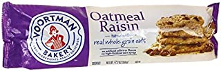 Voortman Bakery Oatmeal Raisin Cookies - Delicious Baked Oatmeal Cookies made with Real Whole Grain Oats and Raisins, No Artificial Colors or Flavors and No High-Fructose Corn Syrup (Pack of 4)