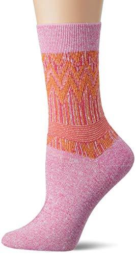 FALKE Damen Socken Mexicali - Leinen-/Baumwollgemisch, 1 Paar, Rosa (Begonia Pink 8668), Größe: 37-38
