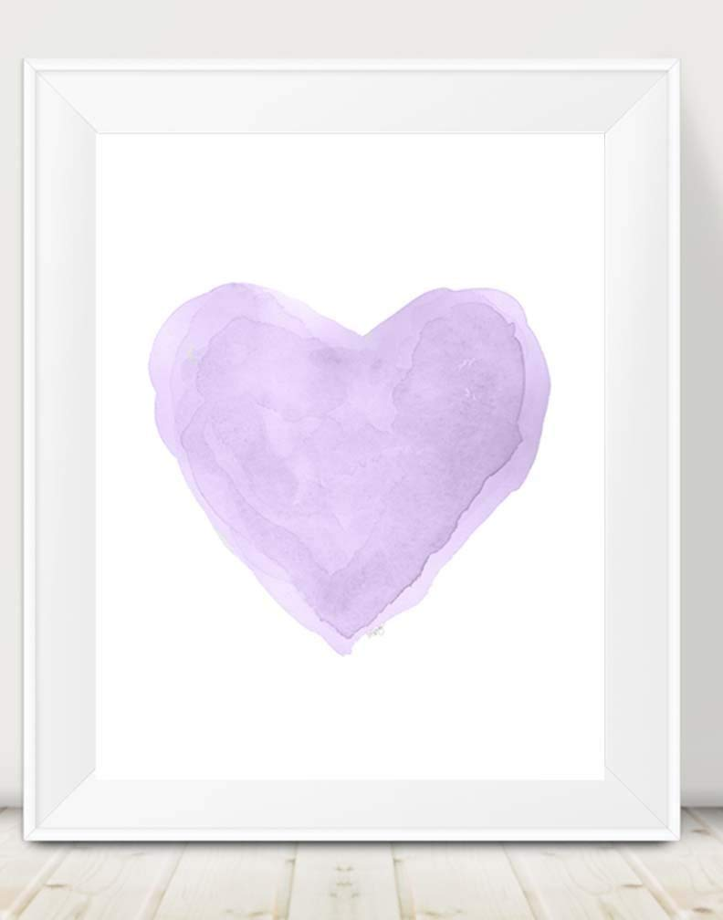 Romantic Lavender Heart Print Popularity Pastel Ro NEW before selling ☆ for or Baby Girls