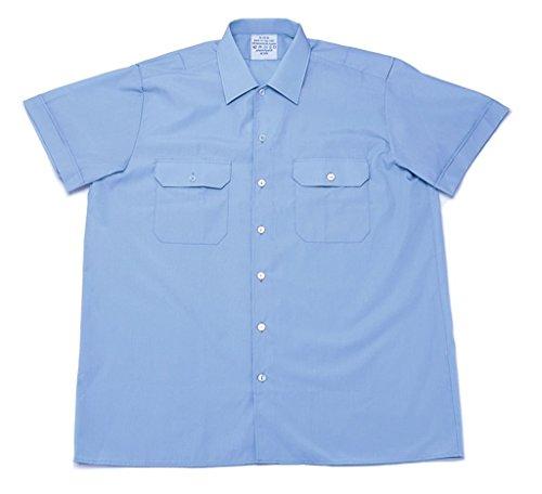 A. Blöchel Originales langärmliges oder kurzärmliges Diensthemd der Deutschen Bundeswehr Securityhemd Farbe Hellblau Größen 2-7 (3 (39/40), Kurzarm)
