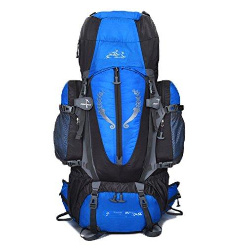 OHmais Unisexe Sac à dos Randonnée Alpinisme Imperméable Grande Contenance Escalade Trekking avec Housse de Pluie 85L en oxford Idéal pour voyage