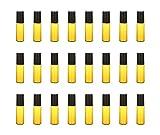 Viales de vidrio rellenables, mini frascos, frascos de vidrio con tapa, frascos de vidrio vacíos (5 ml, paquete de 24)