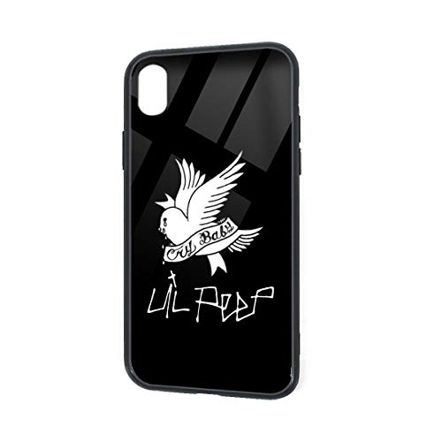 OHMGD Lil Peep Case for iPhone XR Soft TPU Tempered Glass Cover Skin Protective Printed Phone Full Protection Cover for iPhone