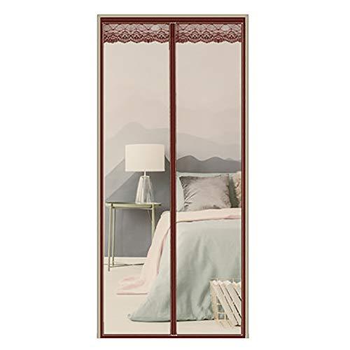 Magnetisch vliegengaas standaard/venster klein voor deuren van Frankrijk, schuifdeuren, garage, bootvissen, tranquillo 100x200cm(39x79inch) Bruin