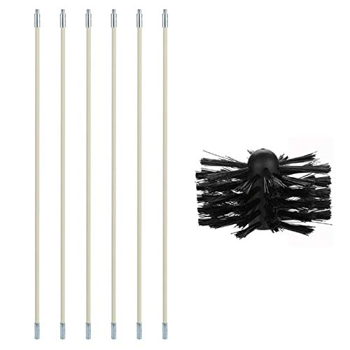 Best Price 1pc Nylon 6 Rods 1 Brush Cleaning Tool Kit Inner Wall Sweeping Chimney Cleaner Tool Set K...