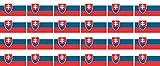 Mini Aufkleber Set - Pack glatt - 33x20mm - Sticker - Slowakei - Flagge - Banner - Standarte fürs Auto, Büro, zu Hause & die Schule - 24 Stück