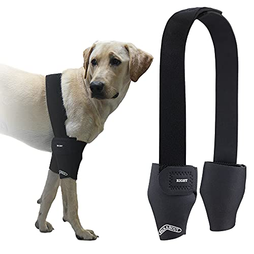 """Walkabout Double Elbow Brace for Dogs and Cats (Large 1"""" Above Elbow 9""""-10"""")"""