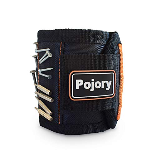 POJORY Magnetic Wristband Gift for Men, Tool Belt with 20 Strong Magnets for Holding Screws, Nails, Drill Bits, Scissors for Father, Husband, Boyfriend, DIY Handyman, Carpenters, Electrician, Women