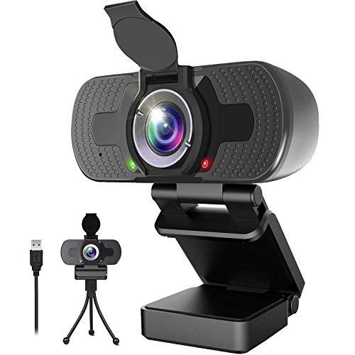 TAKRINK Webcam per PC 1080P Webcam con Microfono USB Computer Webcam Auto Focus Compatibile con Windows Vista Mac OS Android e Linux per Video Online Conferenza Corso Gioco