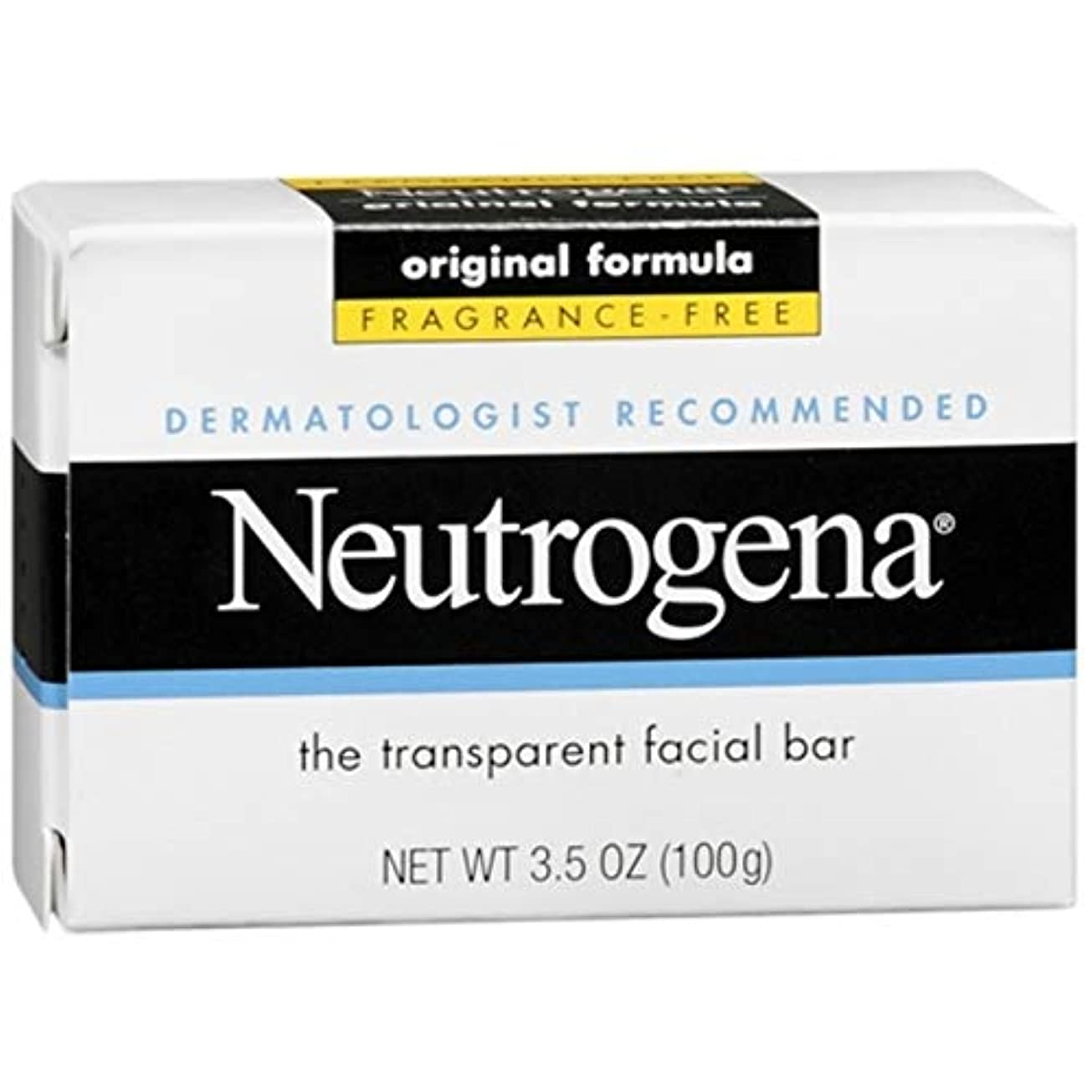 固体インシュレータ暴動Neutrogena The Transparent Facial Bar/Fragrance-free 100g