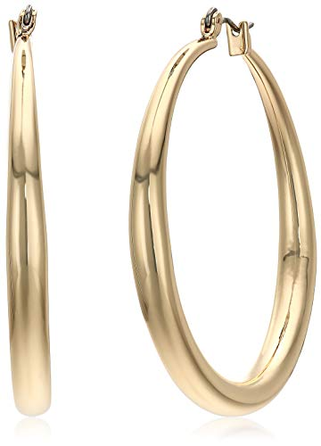 Kenneth Cole New York Women's Large Gold Hoop Earrings, Shiny Gold, One Size