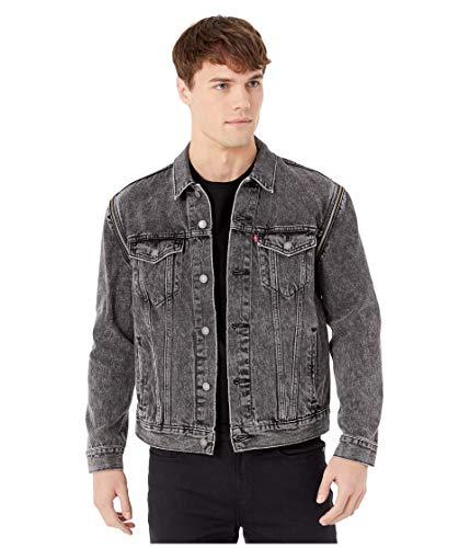 Levi's Herren Trucker Jacket Jeansjacke, Black Pack Out-Zip Off, L