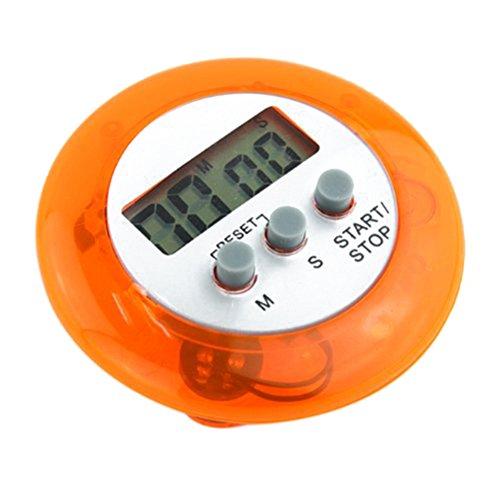 PIXNOR Numérique de minuterie de cuisine cuisson minuteur avec alarme puissante (Orange)