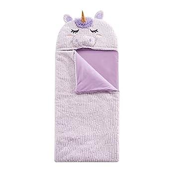 Heritage Kids Figural Unicorn Hooded Sleeping Bag Purple 26 x60
