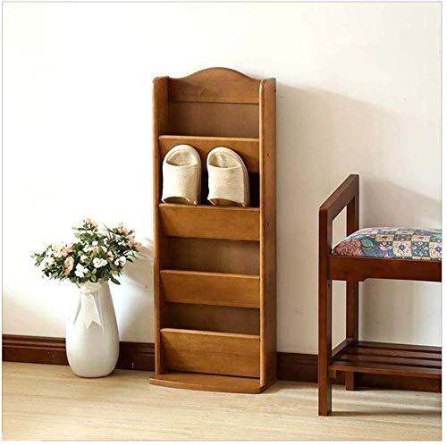 YLCJ schoenenkast, eenvoudig, huishoudtextiel, van massief hout - sandalen en pantoffels van hout, modern (kleur: geel) Bruin