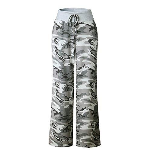 Sabarry vrouwen brede been broek Casual Bloemen Losse Yoga Broek Trekkoord Hoge taille Workout Baggy Pajama Lounge Broek
