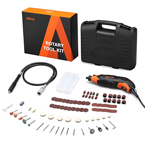 Herramienta Rotativa Eléctrica, ALLROS 170W Multiherramienta con 100 Accesorios, 8000-35000RPM 6 velocidades variables, para tallar grabar fresar amolar limpiar pulir cortar y lijar