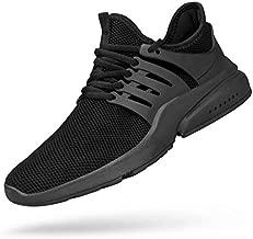 Troadlop Men's Non Slip Running Shoes Lightweight Tennis Sneakers Fitness Slip Resistant Athletic Sports Walking Gym Work Jogging Shoes Black 9.5
