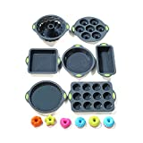 To encounter 31 Pieces Silicone Bakeware Set - 7 Silicone Baking Cake Pans - 24 Silicone Cake Molds...