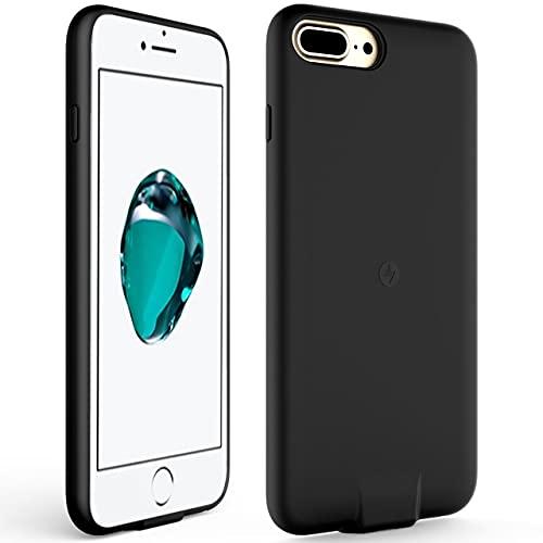 OCEANLOVE - Funda con receptor de carga inalámbrico para iPhone 7PLUS 6SPLUS 6PLUS con receptor Qi inalámbrico integrado y puerto de...