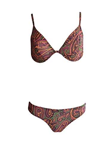Solar Tan Thru Bügel-Bikini Paisley in Braun, Gr. 38 C-Cup