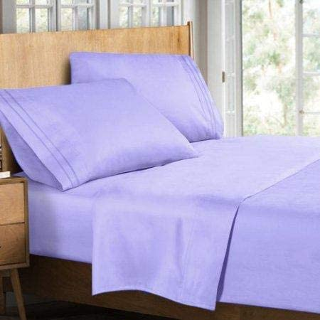2500 Royal Bamboo Collection Bed Sheet Set (Queen, Lavender)
