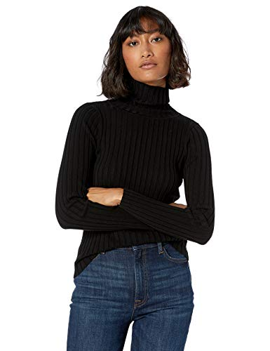 The Drop Women's Amy Fitted Turtleneck Ribbed Sweater