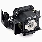 Uton ELPLP34 Replacement Projector Lamp with Housing for Epson PowerLite 76C 82C 62C EMP-62 EMP-62C EMP-63 EMP-76C EMP-82 EMP-82C EMP-X3 Projector