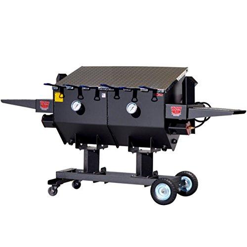 "R&V WORKS 40"" Tall Carbon Steel Material FF6 17 Gallon 6 Basket Fryer"