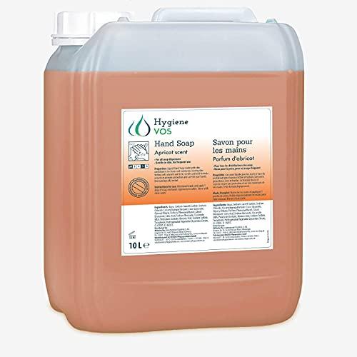 Hygiene VOS 10 litro Jabón Líquido de Manos albaricoque pH Neutro de Uso Diario. Fórmula Extra Suave y Biodegradable. Envase Económico 10L, para Todo Tipo de Dispensadores