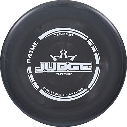 Dynamic Discs Prime Judge Disc Golf Putter | Black | 170g Plus | Throwing Frisbee Golf Putter | Great Off of The Tee Box | Stable Disc Golf Flight | Beaded Disc Golf Putter | Stamp Color Will Vary