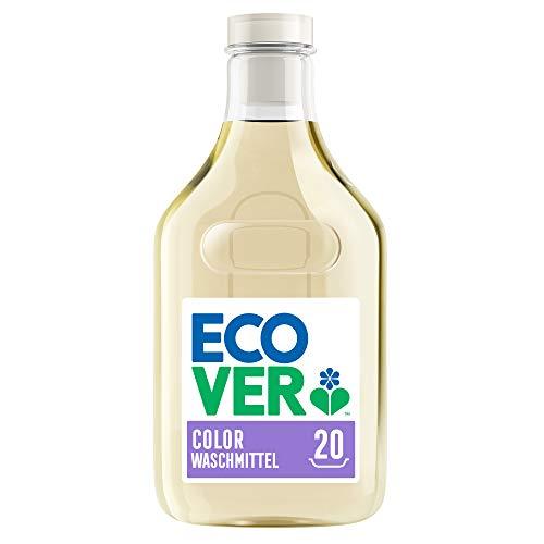 Ecover Waschmittel Color Apfelblüte & Freesie (1 L/20 Waschladungen), Flüssigwaschmittel mit pflanzenbasierten Inhaltsstoffen, Colorwaschmittel für Erhalt und Schutz der Kleidung