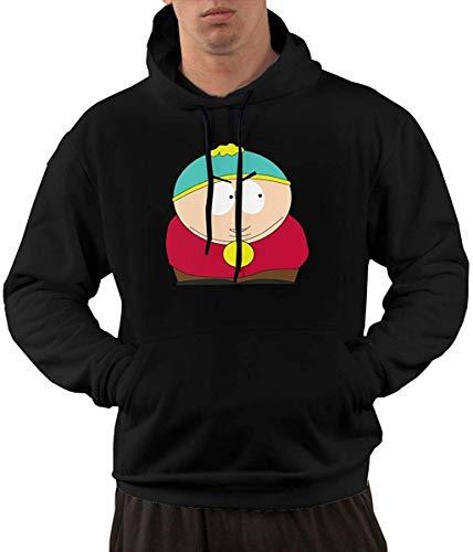 BeiLinQuRuiYinYuanBai Garder Herren Kapuzenhut, Motiv Cartman South Park Eric, mit Kapuze, bequem und modisch, Schwarz Gr. Small, Mehrfarbig